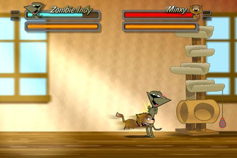 Screenshots vom Spiel Street cat fighter für iPhone, iPad oder iPod.