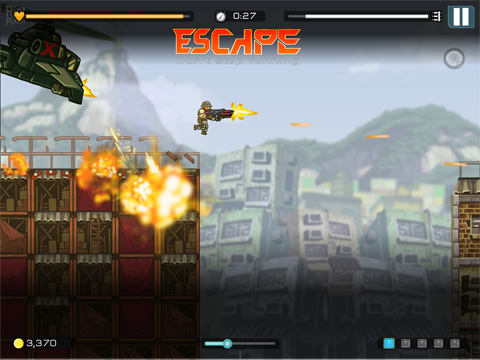 Kostenloser Download von Strike force heroes: Extraction für iPhone, iPad und iPod.