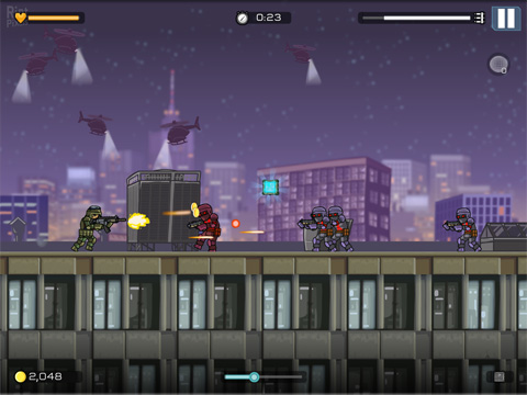 Screenshots vom Spiel Strike force heroes: Extraction für iPhone, iPad oder iPod.