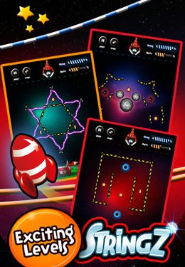 Screenshots of the StringZ-HD game for iPhone, iPad or iPod.