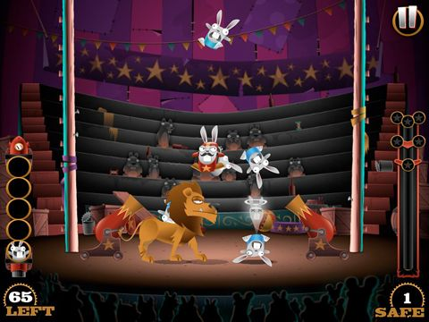 Capturas de pantalla del juego Stunt bunnies: Circus para iPhone, iPad o iPod.