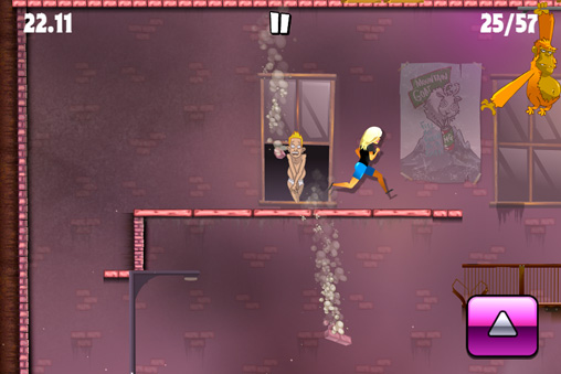 Capturas de pantalla del juego Stunt gal para iPhone, iPad o iPod.