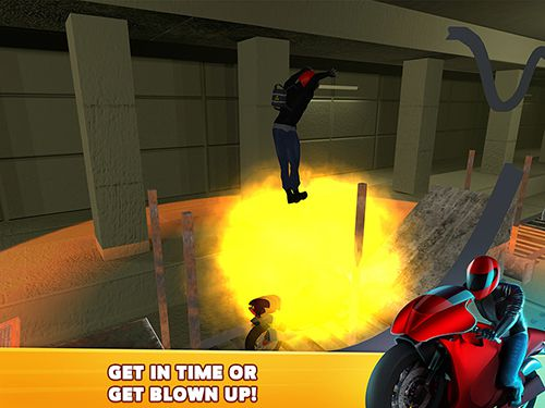 Screenshots of the Subway moto escape game for iPhone, iPad or iPod.