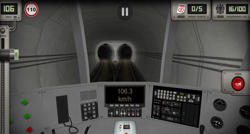 Screenshots of the Subway simulator 3D: Deluxe game for iPhone, iPad or iPod.