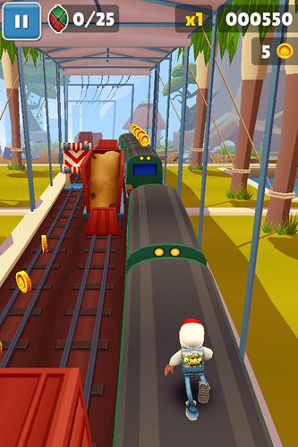 Screenshots of the Subway surfers: Kenya game for iPhone, iPad or iPod.