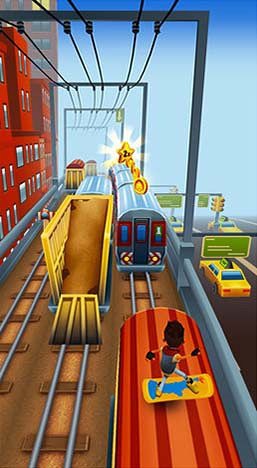 Screenshots vom Spiel Subway surfers: New-York für iPhone, iPad oder iPod.