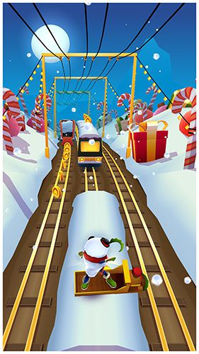 Геймплей Subway Surfers: North pole для Айпад.
