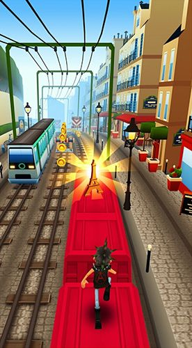 Screenshots vom Spiel Subway surfers: Paris für iPhone, iPad oder iPod.