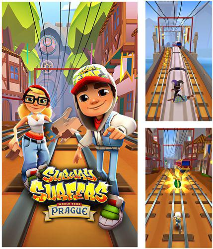 In addition to the game Smash hit for iPhone, iPad or iPod, you can also download Subway surfers: Prague for free.