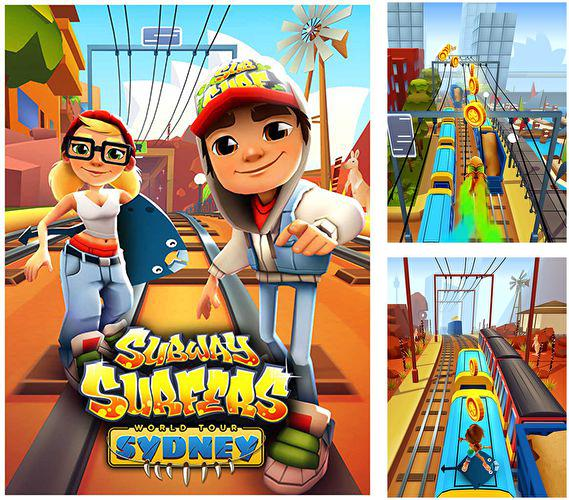 In addition to the game Angry Birds Space for iPhone, iPad or iPod, you can also download Subway surfers: Sydney for free.