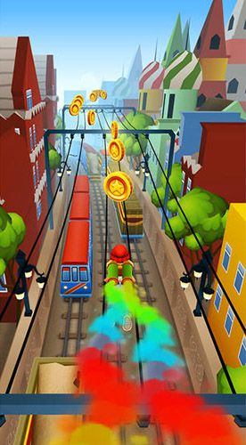 Screenshots of the Subway surfers: World tour Moscow game for iPhone, iPad or iPod.