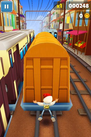 Скриншот игры Subway surfers: World tour Mumbai на Айфон.