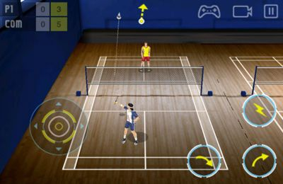 Screenshots of the Super Badminton game for iPhone, iPad or iPod.