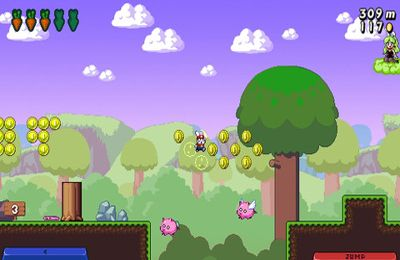 Capturas de pantalla del juego Super Bunny Land para iPhone, iPad o iPod.