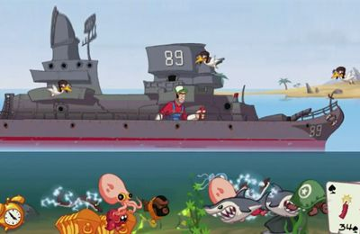 Capturas de pantalla del juego Super Dynamite Fishing para iPhone, iPad o iPod.