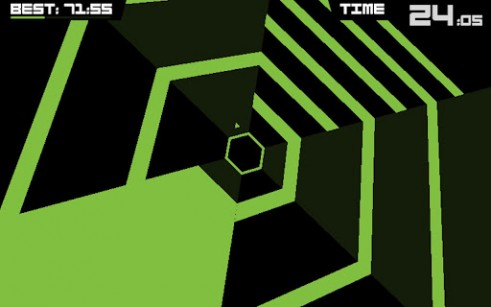 Download Super hexagon iPhone free game.