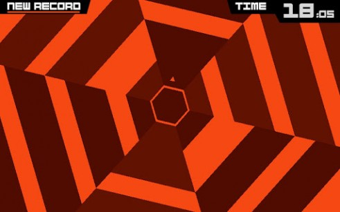 Écrans du jeu Super hexagon pour iPhone, iPad ou iPod.