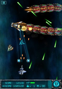 Écrans du jeu Super Laser: The Alien Fighter pour iPhone, iPad ou iPod.