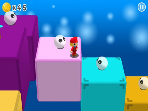 Screenshots vom Spiel Super Maurer: 3D world für iPhone, iPad oder iPod.