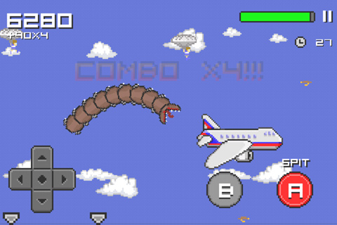 Capturas de pantalla del juego Super mega worm para iPhone, iPad o iPod.