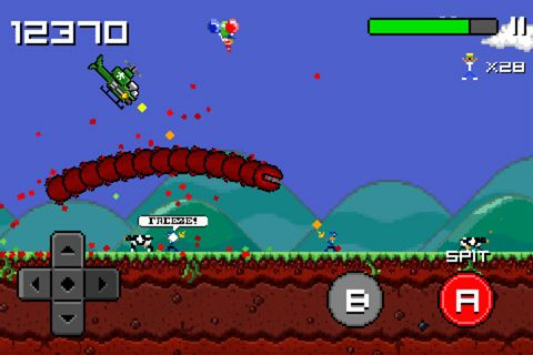 Screenshots of the Super mega worm game for iPhone, iPad or iPod.