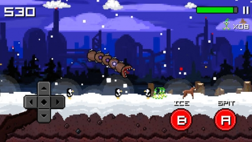 Скачать игру Super mega worm vs. Santa: saga для iPad.