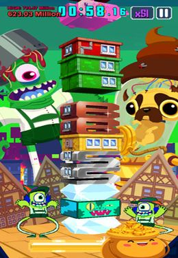 Screenshots of the Super Monsters Ate My Condo! game for iPhone, iPad or iPod.