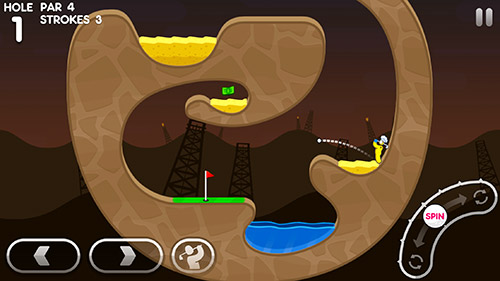 Descarga gratuita del juego Súper stickman golf 3 para iPhone.