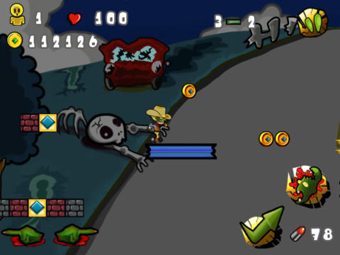 Screenshots of the Super zombie ninja vs. zombies world game for iPhone, iPad or iPod.