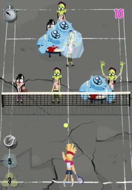Free Super Zombie Tennis download for iPhone, iPad and iPod.