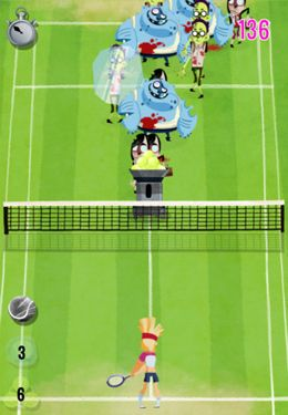 Screenshots of the Super Zombie Tennis game for iPhone, iPad or iPod.