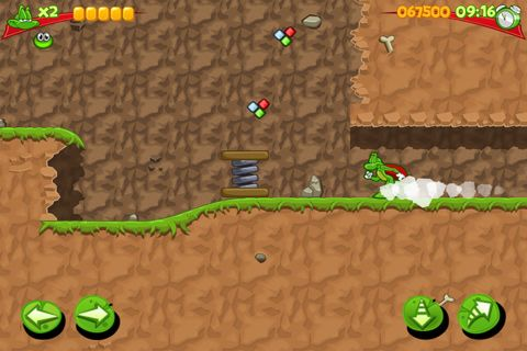 Screenshots of the Superfrog game for iPhone, iPad or iPod.