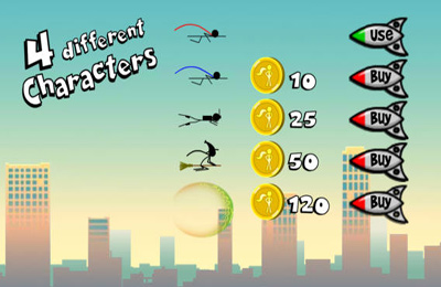 Screenshots of the Superhero Stickman game for iPhone, iPad or iPod.