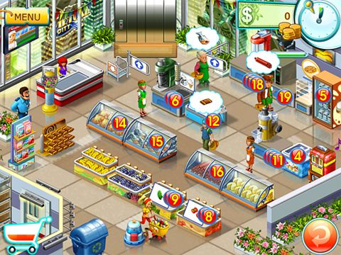 Download Supermarket mania 2 iPhone free game.