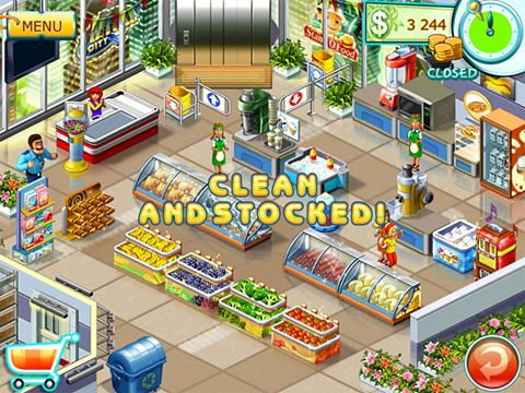 Free Supermarket mania 2 download for iPhone, iPad and iPod.