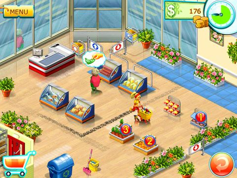 Screenshots of the Supermarket mania 2 game for iPhone, iPad or iPod.