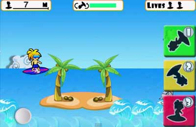 Écrans du jeu Surf's Up pour iPhone, iPad ou iPod.