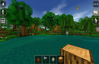 Screenshots do jogo Survivalcraft para iPhone, iPad ou iPod.