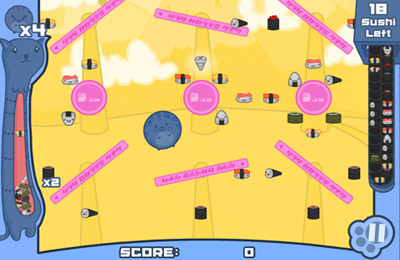 Screenshots of the Sushi Cat game for iPhone, iPad or iPod.