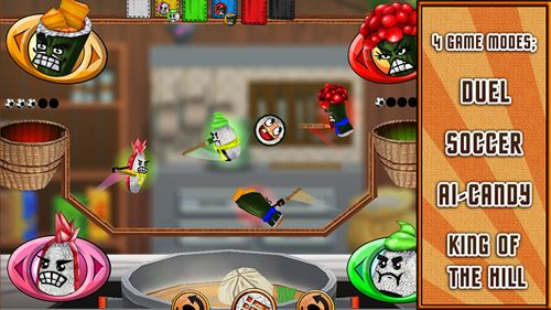 Screenshots of the Sushi fight game for iPhone, iPad or iPod.