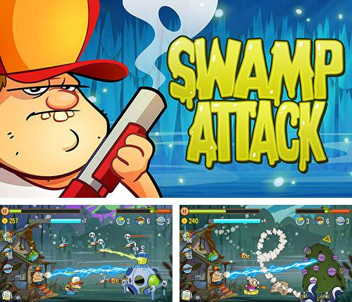 In addition to the game Froggy Splash for iPhone, iPad or iPod, you can also download Swamp attack for free.