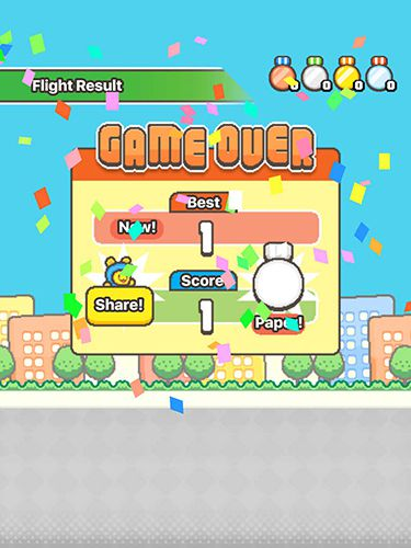Screenshots of the Swing copters 2 game for iPhone, iPad or iPod.