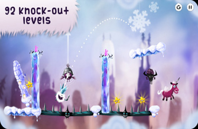 Écrans du jeu Swing King pour iPhone, iPad ou iPod.