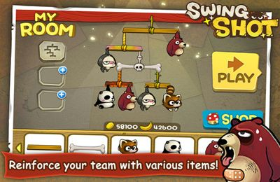 Écrans du jeu Swing Shot PLUS pour iPhone, iPad ou iPod.