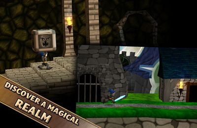 Screenshots do jogo Swordigo para iPhone, iPad ou iPod.