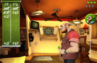 Capturas de pantalla del juego T-80 Darts para iPhone, iPad o iPod.