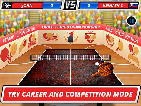 Download Table tennis 3D: Virtual championship iPhone free game.