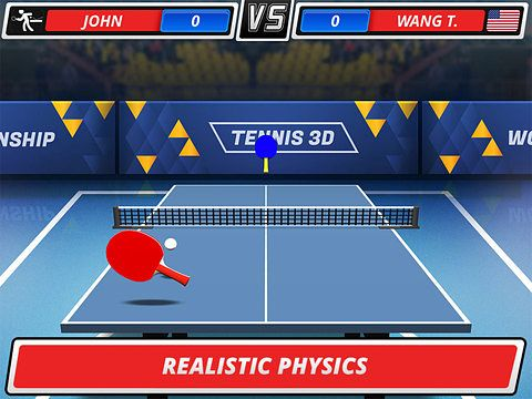 Descarga gratuita de Table tennis 3D: Virtual championship para iPhone, iPad y iPod.