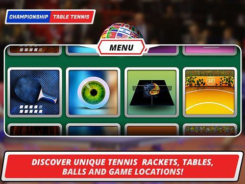 Écrans du jeu Table tennis 3D: Virtual championship pour iPhone, iPad ou iPod.