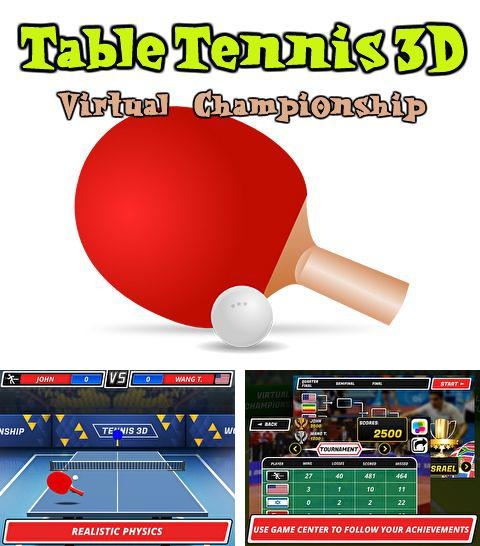 Alem do jogo As corujas parvas para iPhone, iPad ou iPod, voce tambem pode baixar Tênis de mesa 3D: Campeonato Virtual, Table tennis 3D: Virtual championship gratuitamente.